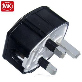 MK Toughplug, Silver Plated UK mains plug