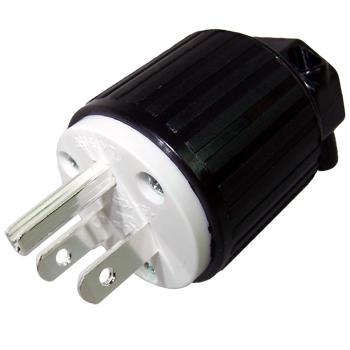 NEMA USA 5-15P AC plug, silver plated