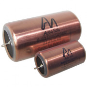 Insulating Copper Capacitors with heat shrink