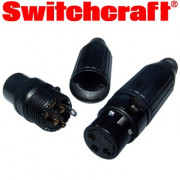 Switchcraft Black XLR plugs