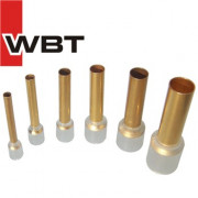WBT insulated copper and silver end sleeves
