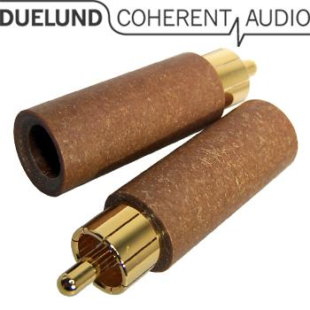 Just arrived - the all new Duelund RCA plugs - Gold or Rhodium plated available