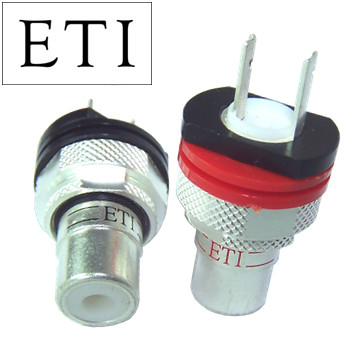 ETI Research FS-08 Silver RCA Socket