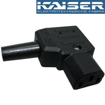 Kaiser IEC plug, Right Angled