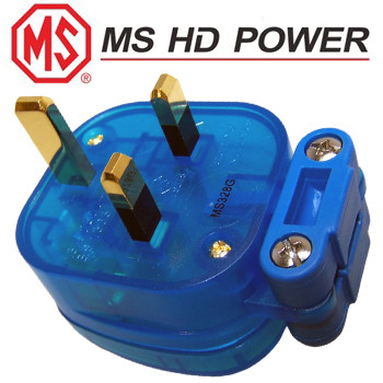 MS HD Blue UK Mains Plug