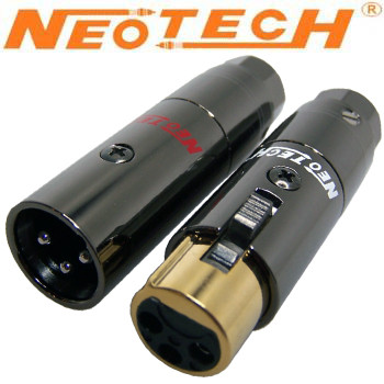 New Rhodium plated XLR plugs from Neotech