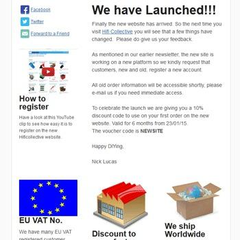 Newsletter with Voucher Code