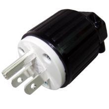 NEMA USA AC plug, silver plated