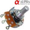 Alpha 50KA mono potentiometer, 24mm Solid Shaft