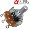 Alpha 1MA mono potentiometer, 24mm Solid Shaft