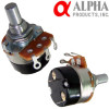 Alpha 1MA mono potentiometer, 24mm Solid Shaft with on/off switch