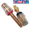 CMC-858-L-CUR-G Gold plated, long binding posts (Pair)