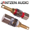 012-0209 Jantzen Binding Post M9 / 25mm, Satin nickel plated,  red / black, a pair