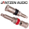 012-0220 Jantzen Binding Post M9 / 26mm Pair, Satin nickel plated, red / black, a pair