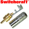 Switchcraft nickel shell, gold phono plug (straight)