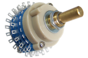 Blue 2 pole 24 way switch, nickel plated