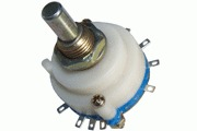 Blue, 2 pole 5 way selector switch