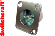 Switchcraft Silver plated male XLR socket - flush mounting