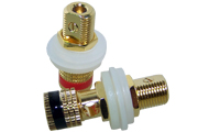 Panel Mounted Speaker Post, Gold Plated