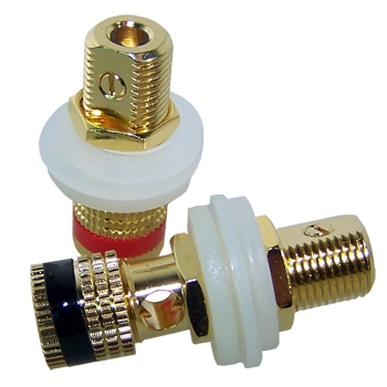 Panel Mounted Speaker Post, Gold Plated (pair)