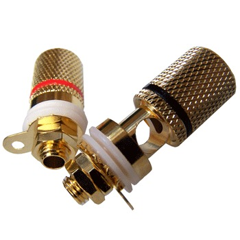 Low Cost Speaker Post, Gold Plated (pair)