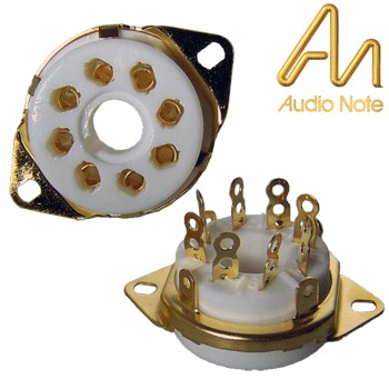 Audio Note octal, gold plated chassis mount base (VBASE165)